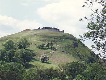 Castle Dinas Bran near the Brit