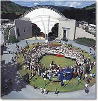 Llangollen International Musical Eisteddfod - Royal International Pavilion - just down the road from the Brit.
