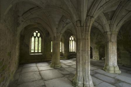 Inside the Valle Crucis Abbey